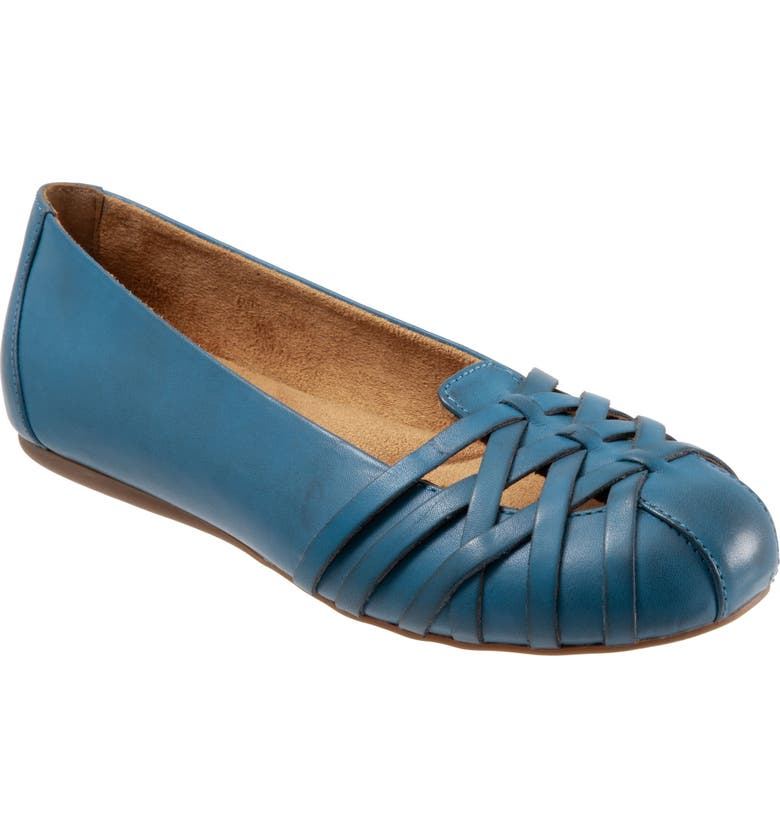 SOFTWALK<SUP>®</SUP> St. Lucia Flat, Main, color, BLUE LEATHER