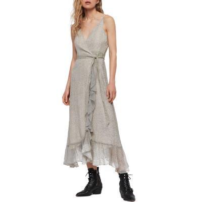 Allsaints Dayla Speckle Wrap Sundress, White
