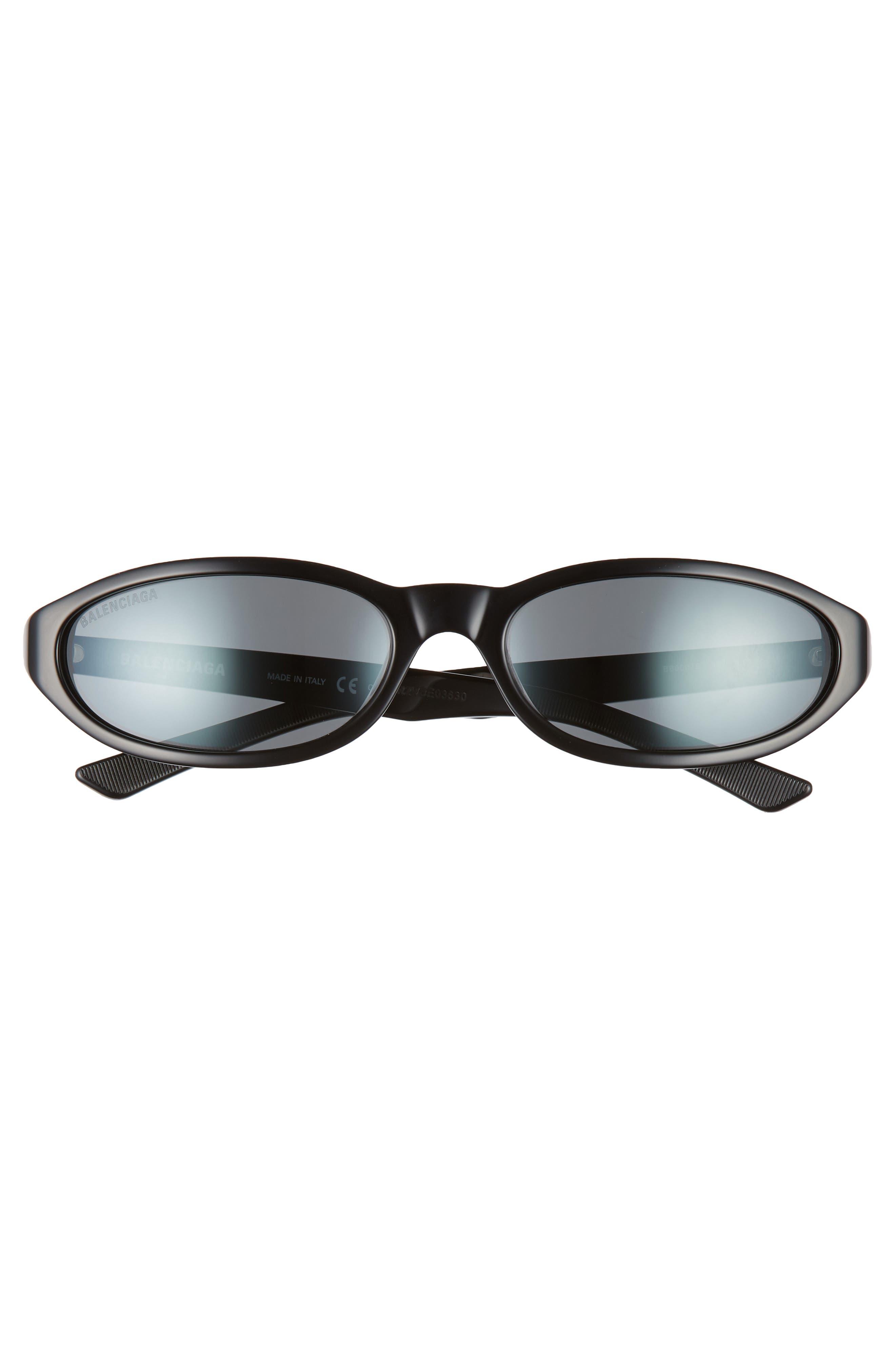 ,                             59mm Cateye Sunglasses,                             Alternate thumbnail 3, color,                             SHINY BLACK/ GREY