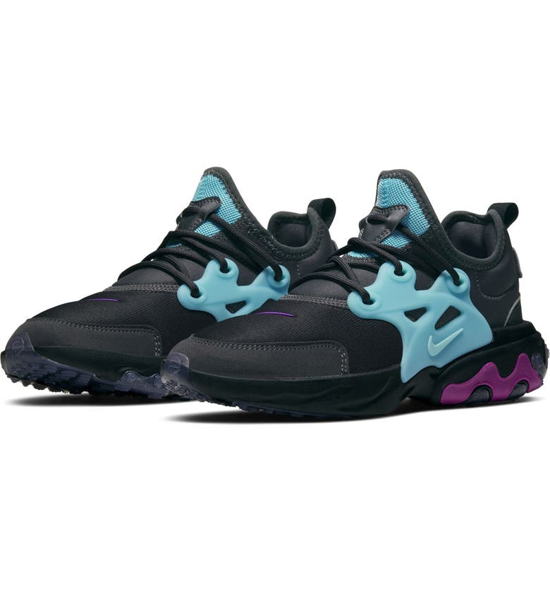 NIKE Presto React Sneaker, Main, color, THUNDER GREY/ VIOLET/ AURORA