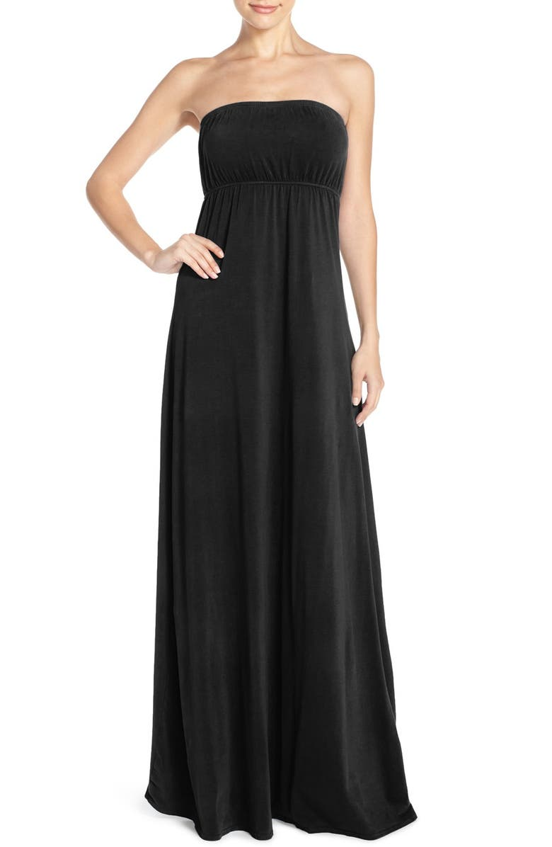 HARD TAIL Long Strapless Dress, Main, color, 001