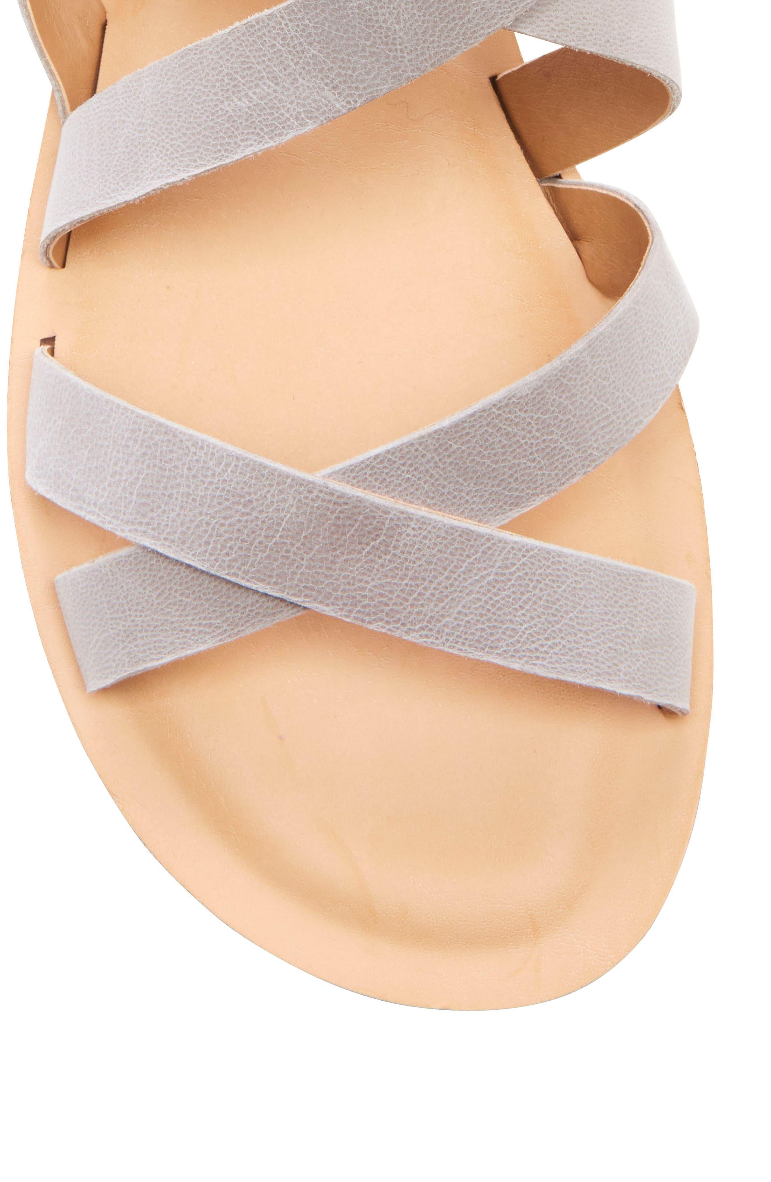 ,                             Helenka Strappy Wedge Sandal,                             Alternate thumbnail 8, color,                             CHINCHILLA LEATHER