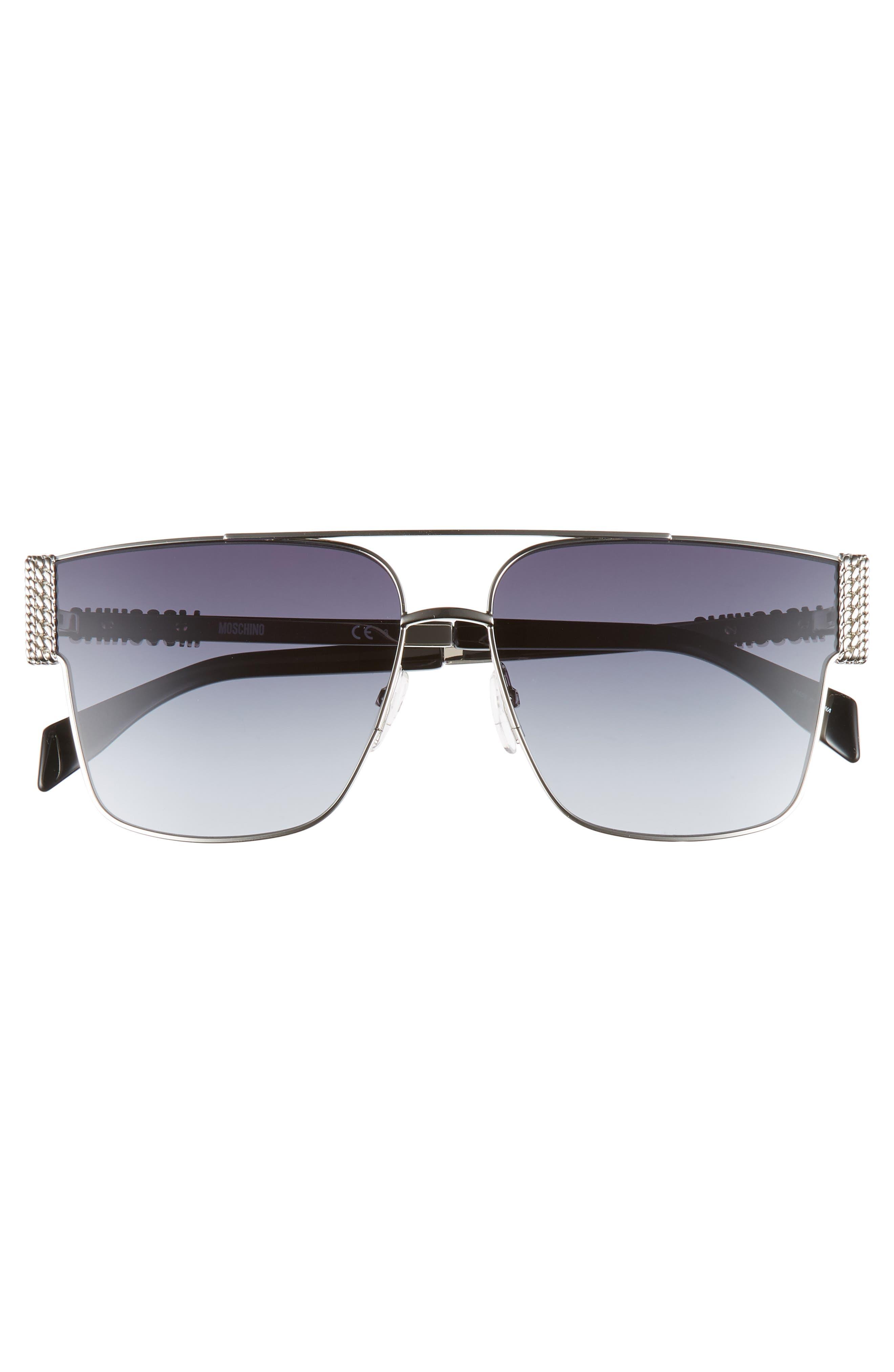 ,                             60mm Aviator Sunglasses,                             Alternate thumbnail 3, color,                             PALLADIUM