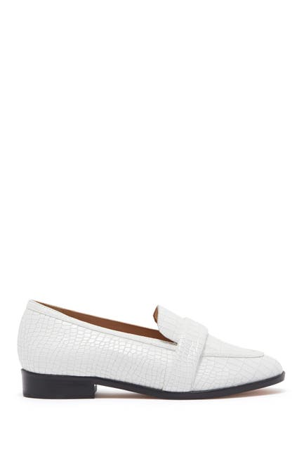 Image of Schutz Romina Croc-Embossed Leather Loafer