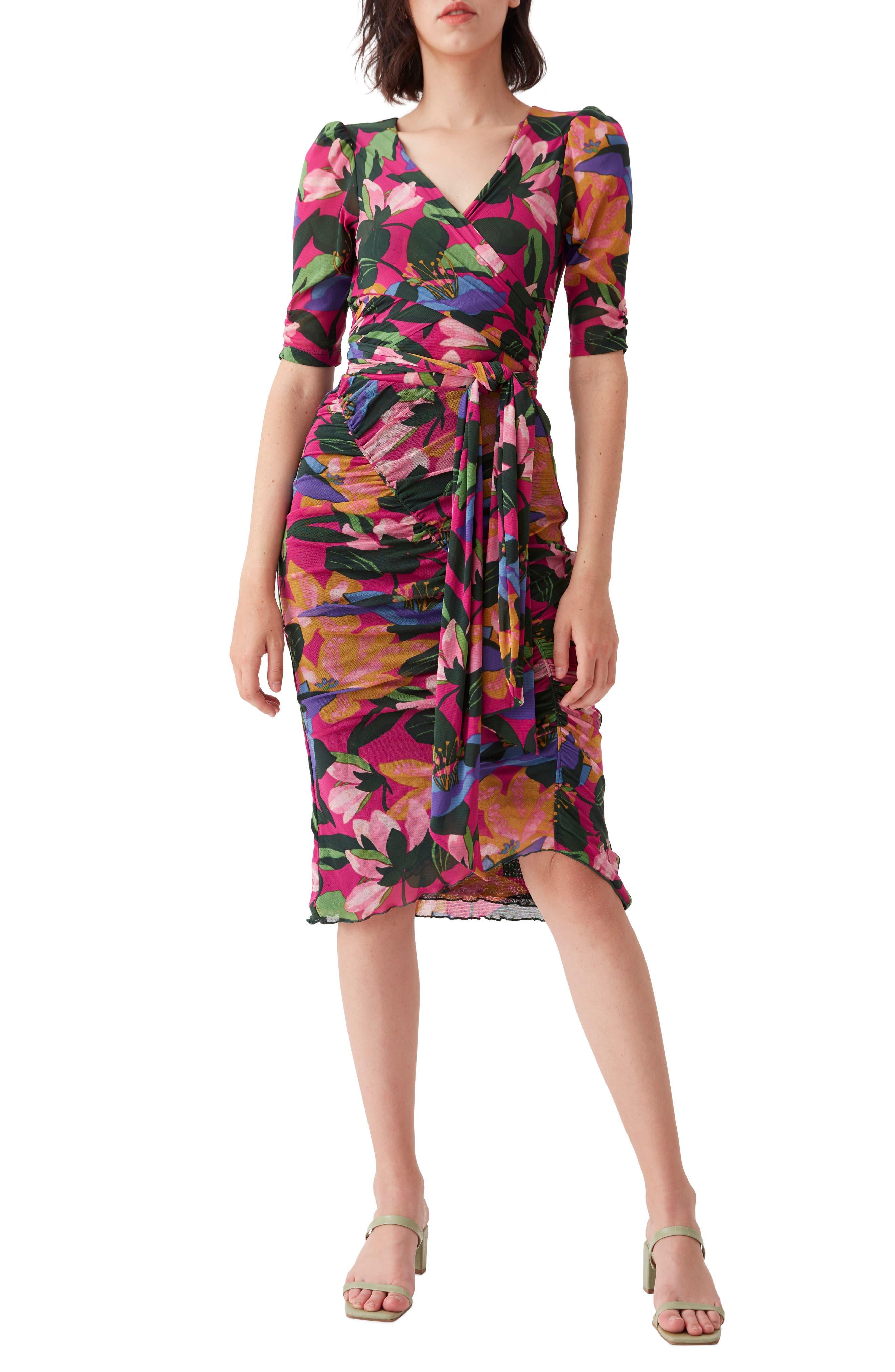Abbie Floral Print Belted Bodysuit