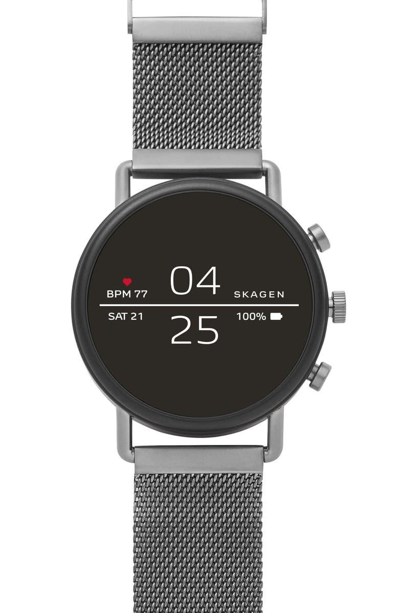 SKAGEN Falster 2 Touchscreen Mesh Strap Smart Watch, 40mm, Main, color, 020