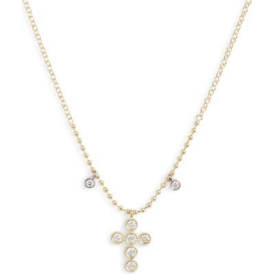 Meria T Diamond Cross Pendant Necklace
