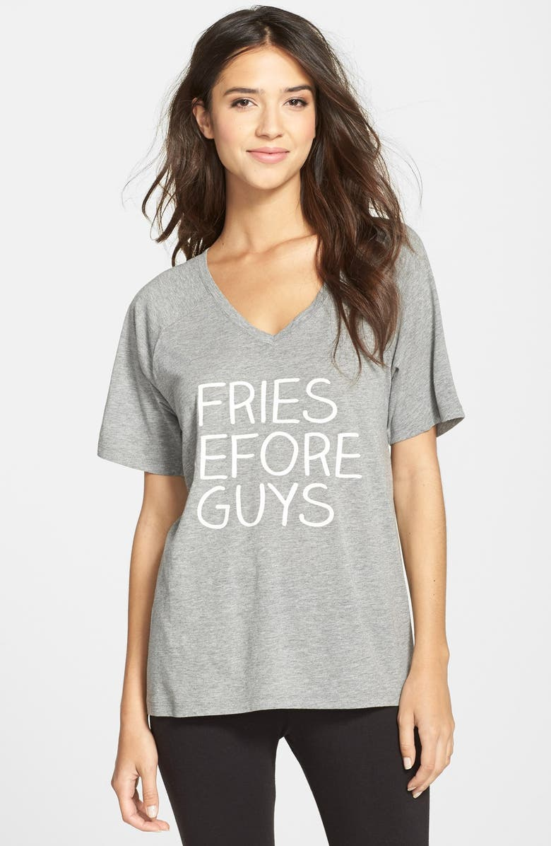 COZY ZOE 'Fries Before Guys' Jersey Tee, Main, color, 020