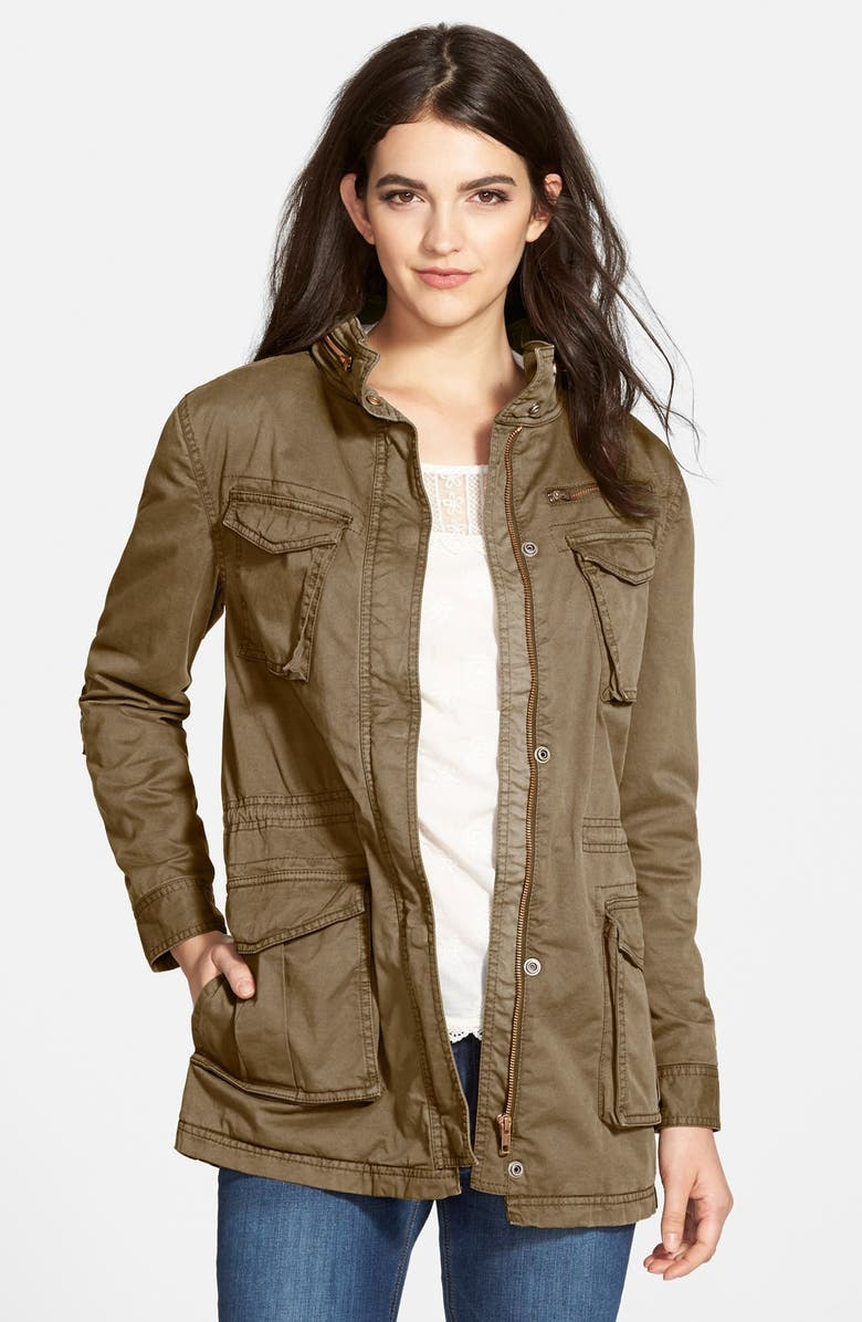 TREASURE & BOND Treasure&Bond Twill Boyfriend Utility Jacket, Main, color, 300