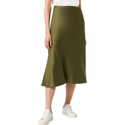 French Connection Alessia Drape Skirt, Regular - Green