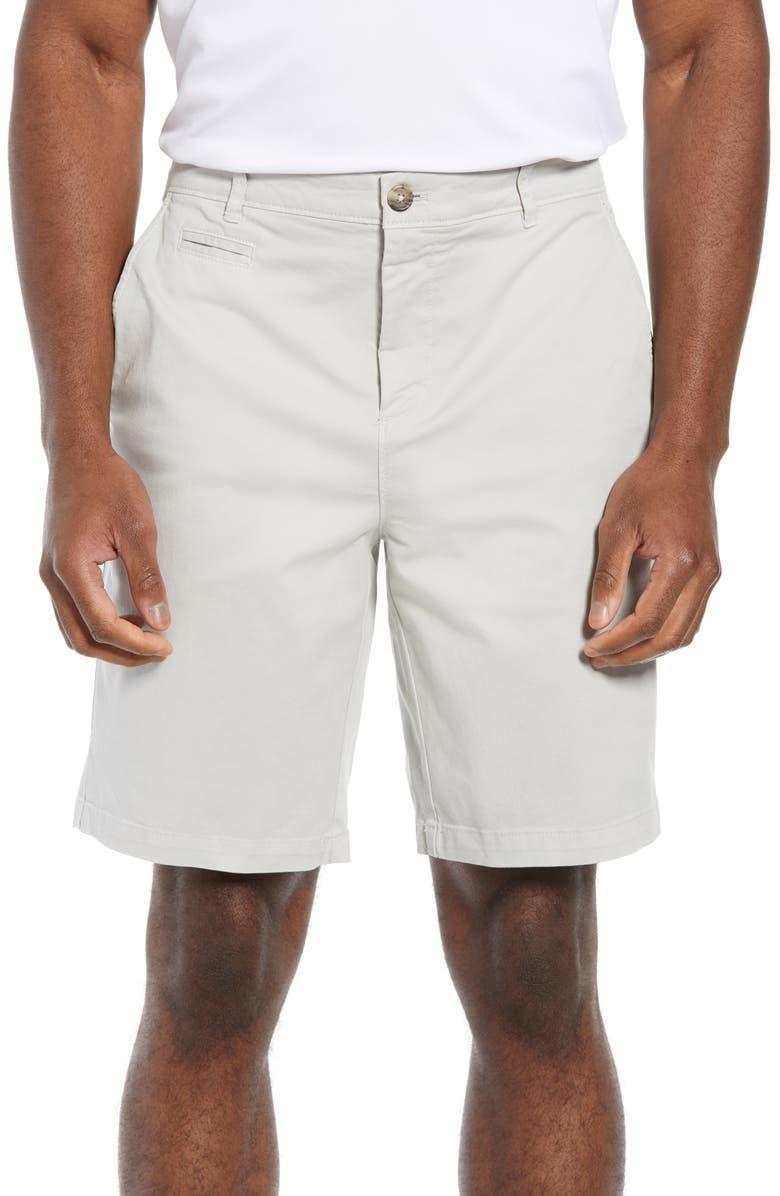 JOHNNIE-O Neal Stretch Twill Shorts, Main, color, NIMBUS GRAY