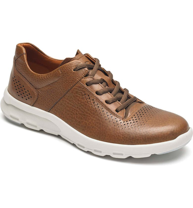 ROCKPORT Let's Walk<sup>®</sup> Sneaker, Main, color, TAN LEATHER