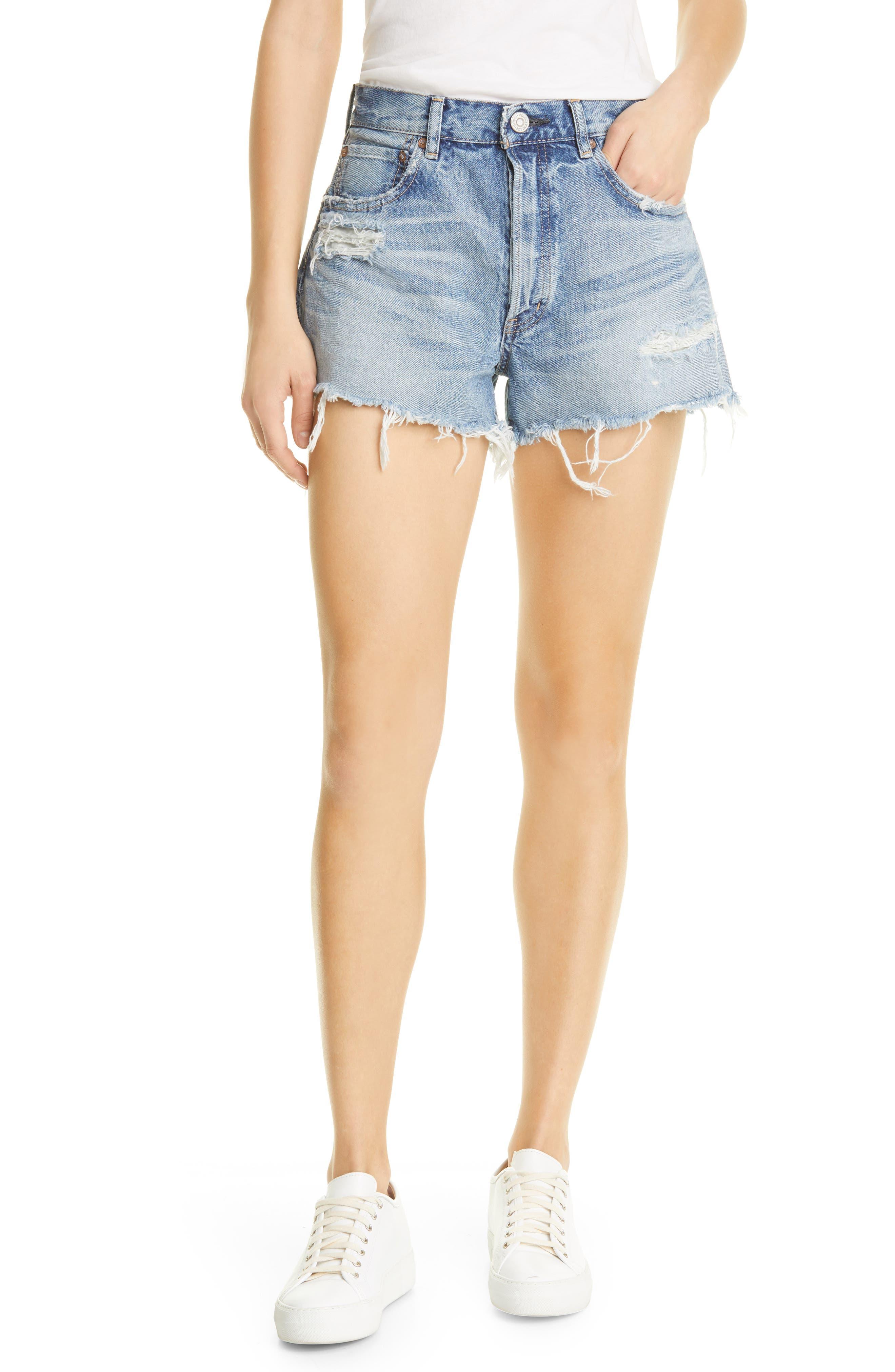 Mv Packard Ripped Cutoff Denim Shorts