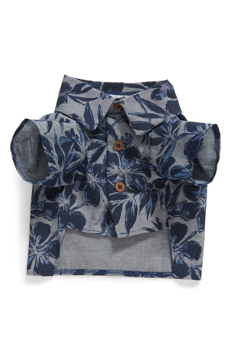 DOG THREADS Cool Breeze BBQ Dog Shirt, Main, color, DENIM BLUE / NAVY