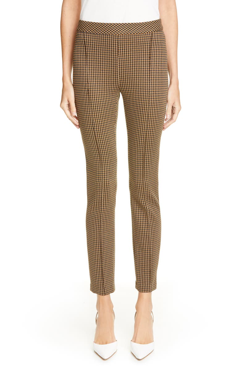 Rosetta Getty Skinny Houndstooth Pants