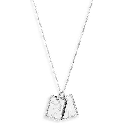 Sterling Forever Zodiac Tag Pendant Necklace