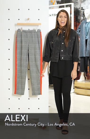 Side Stripe Glen Plaid Pants, sales video thumbnail