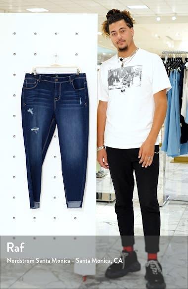Distressed Step Hem Skinny Jeans, sales video thumbnail