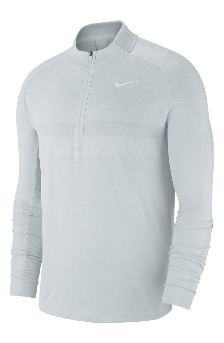 NIKE Dry Half Zip Pullover, Main, color, PURE PLATINUM/ WHITE