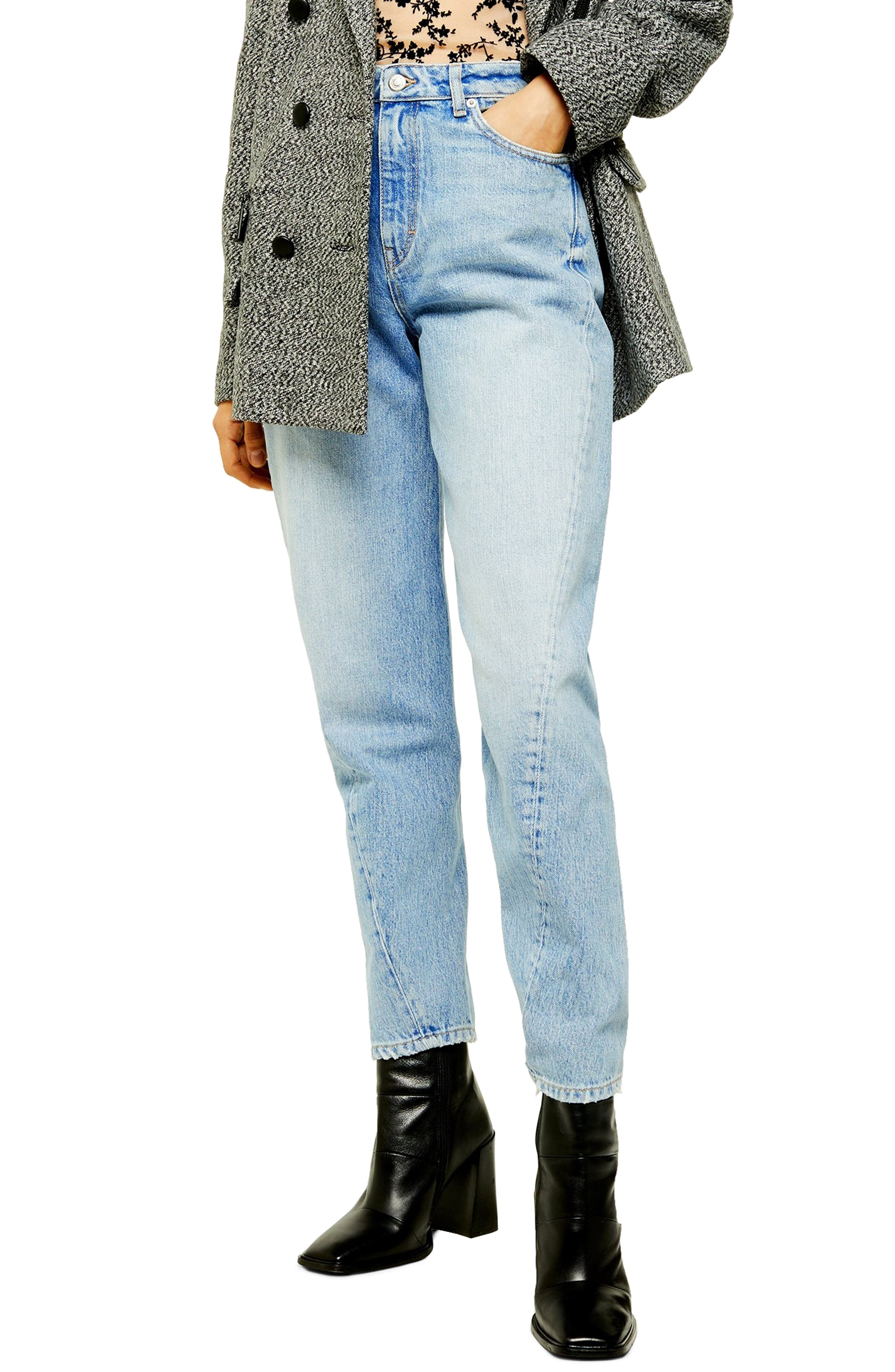 Topshop Twist Seam Mom Jeans