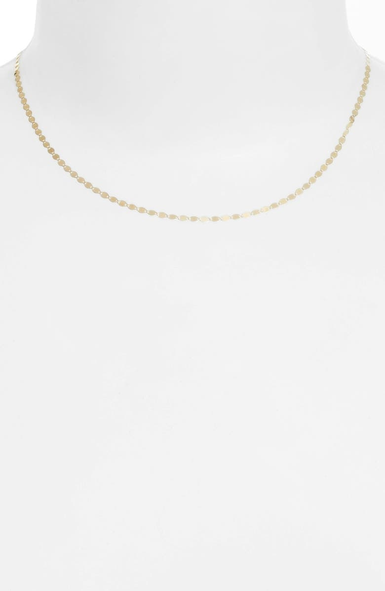 LANA JEWELRY Petite Nude Chain Choker, Main, color, YELLOW GOLD