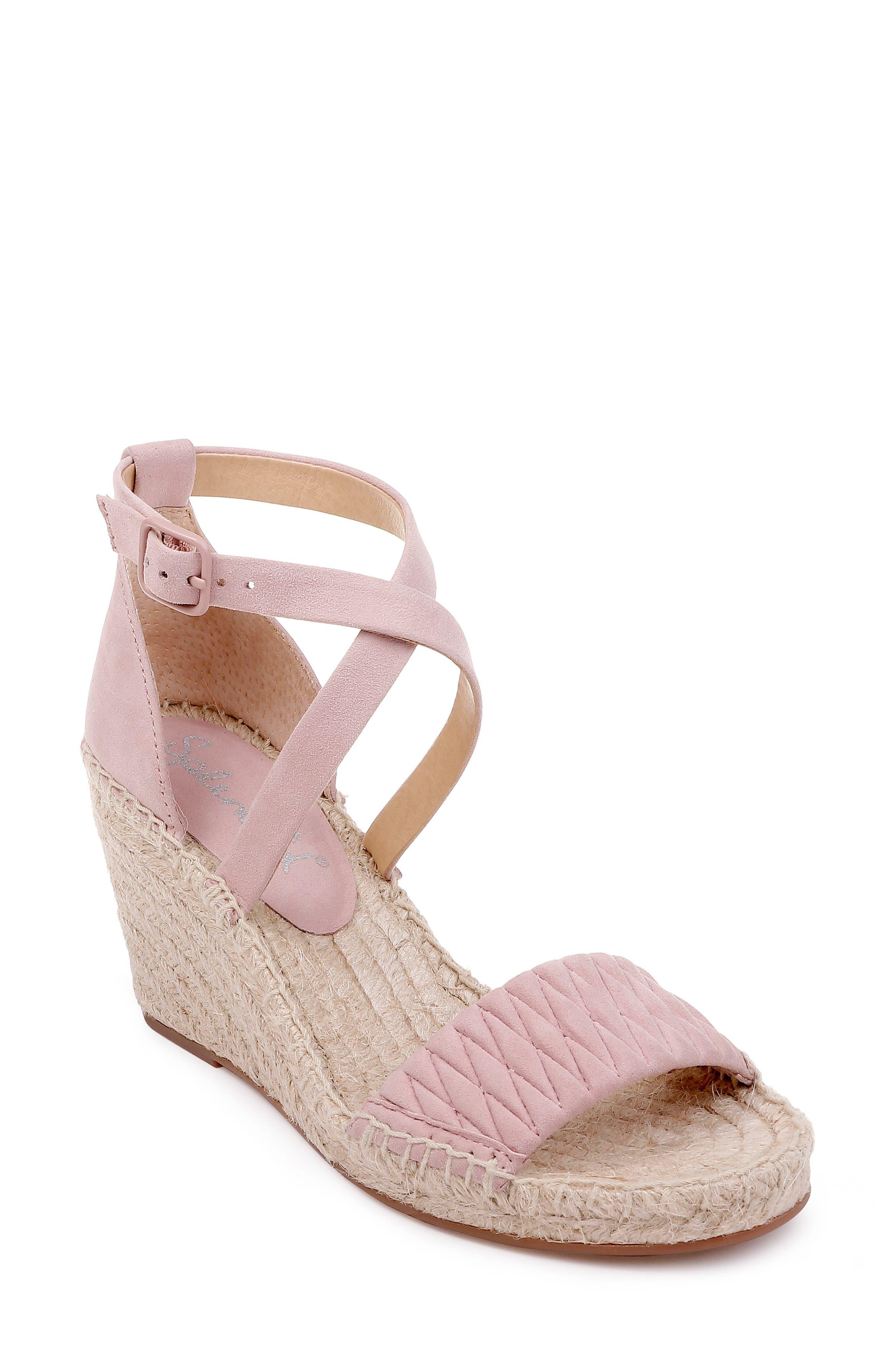 Splendid Sheri Wedge Espadrille Sandal, Pink