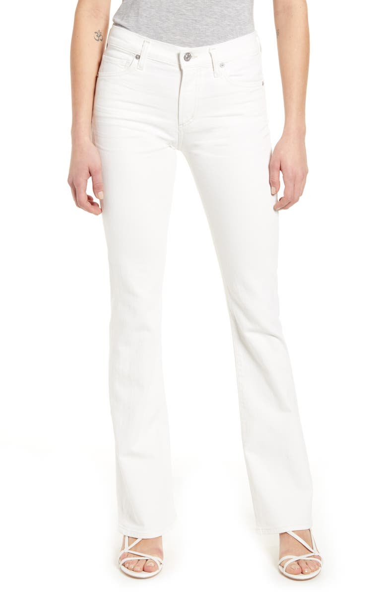 CITIZENS OF HUMANITY Emannuelle High Waist Slim Leg Bootcut Jeans, Main, color, SEA SALT
