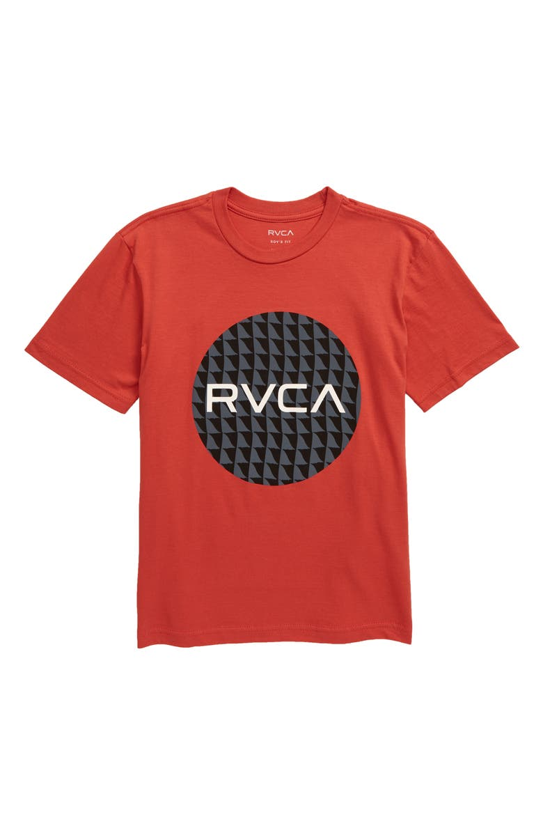 RVCA Motor Fill Graphic T-Shirt, Main, color, BAKED APPLE