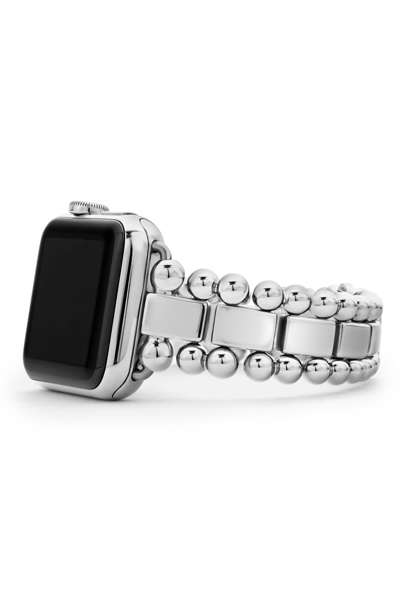 LAGOS Smart Caviar Stainless Steel Watch Bracelet for 38/40mm Apple Watch<sup>®</sup>, Main, color, SILVER