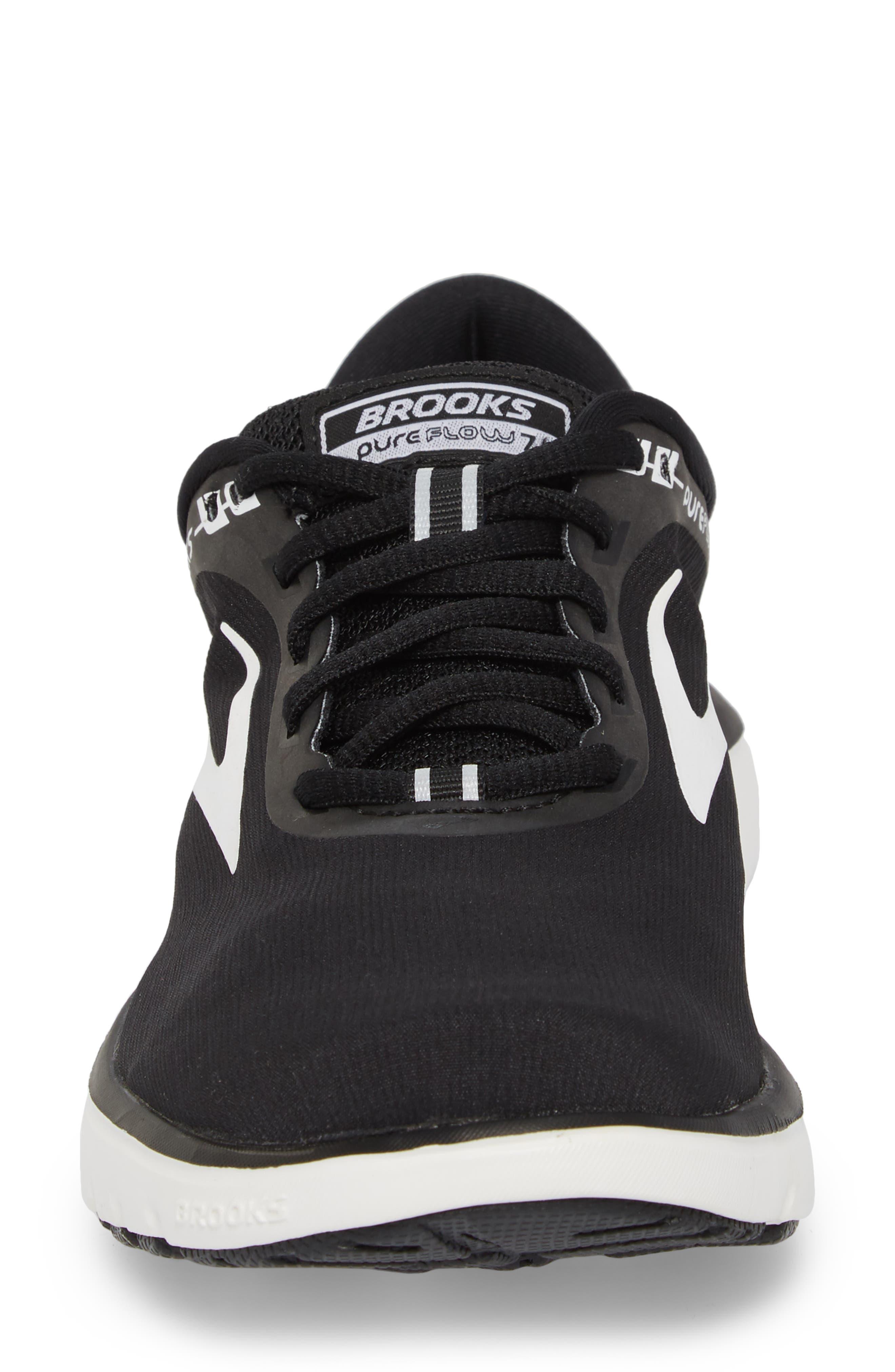 ,                             PureFlow 7 Running Shoe,                             Alternate thumbnail 4, color,                             BLACK/ WHITE