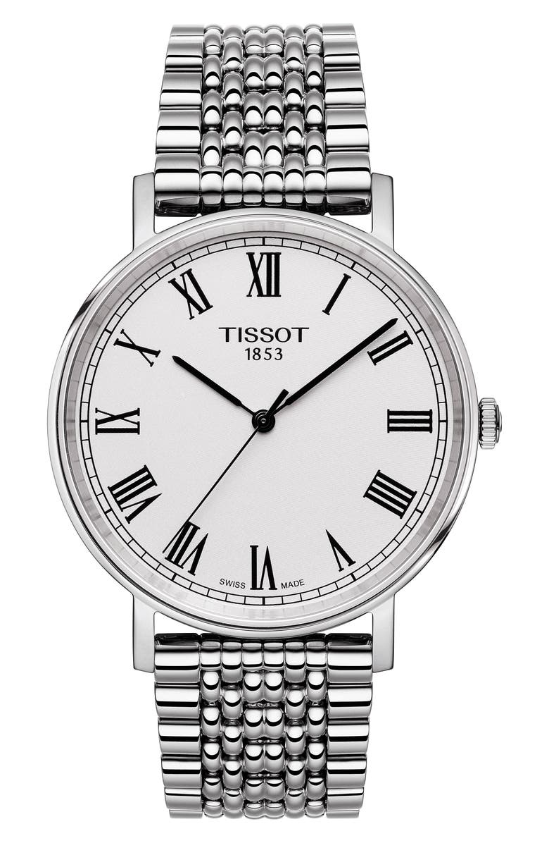 TISSOT Jungfraubahn Limited-Edition Everytime Bracelet Watch, 38mm, Main, color, SILVER