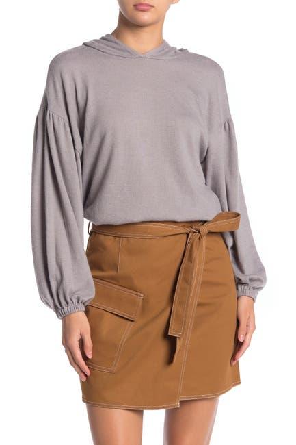 Image of Lush Hooded Brushed Rib Sweater