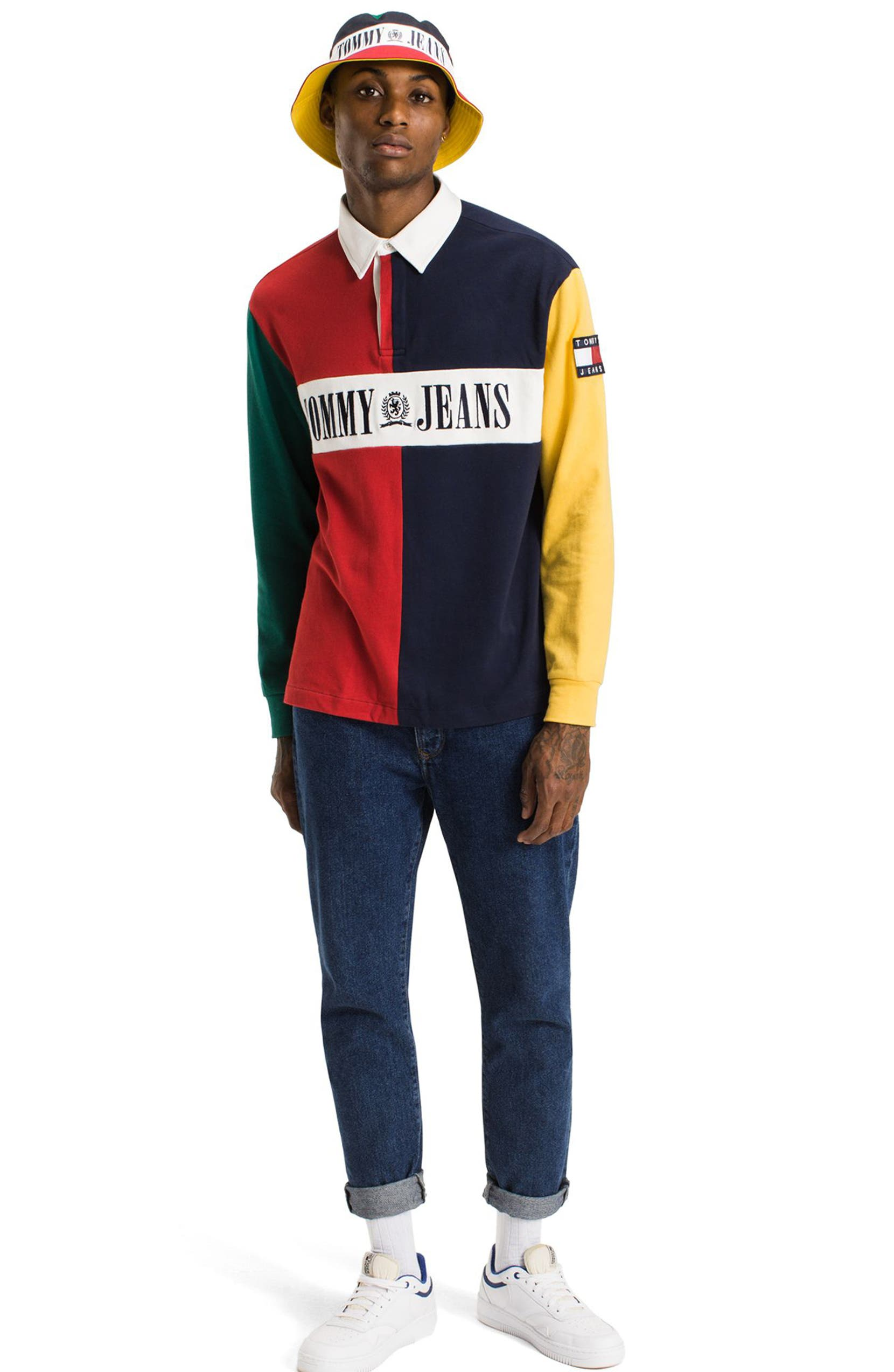 37fe98bf Tommy Hilfiger 90s Colorblock Rugby Shirt | Nordstrom
