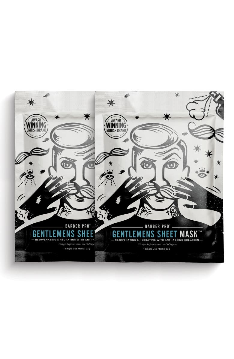 BARBER PRO Gentlemen's Sheet Mask Duo, Main, color, 000
