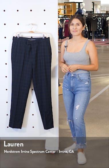 Bampton Check Skinny Fit Suit Pants, sales video thumbnail