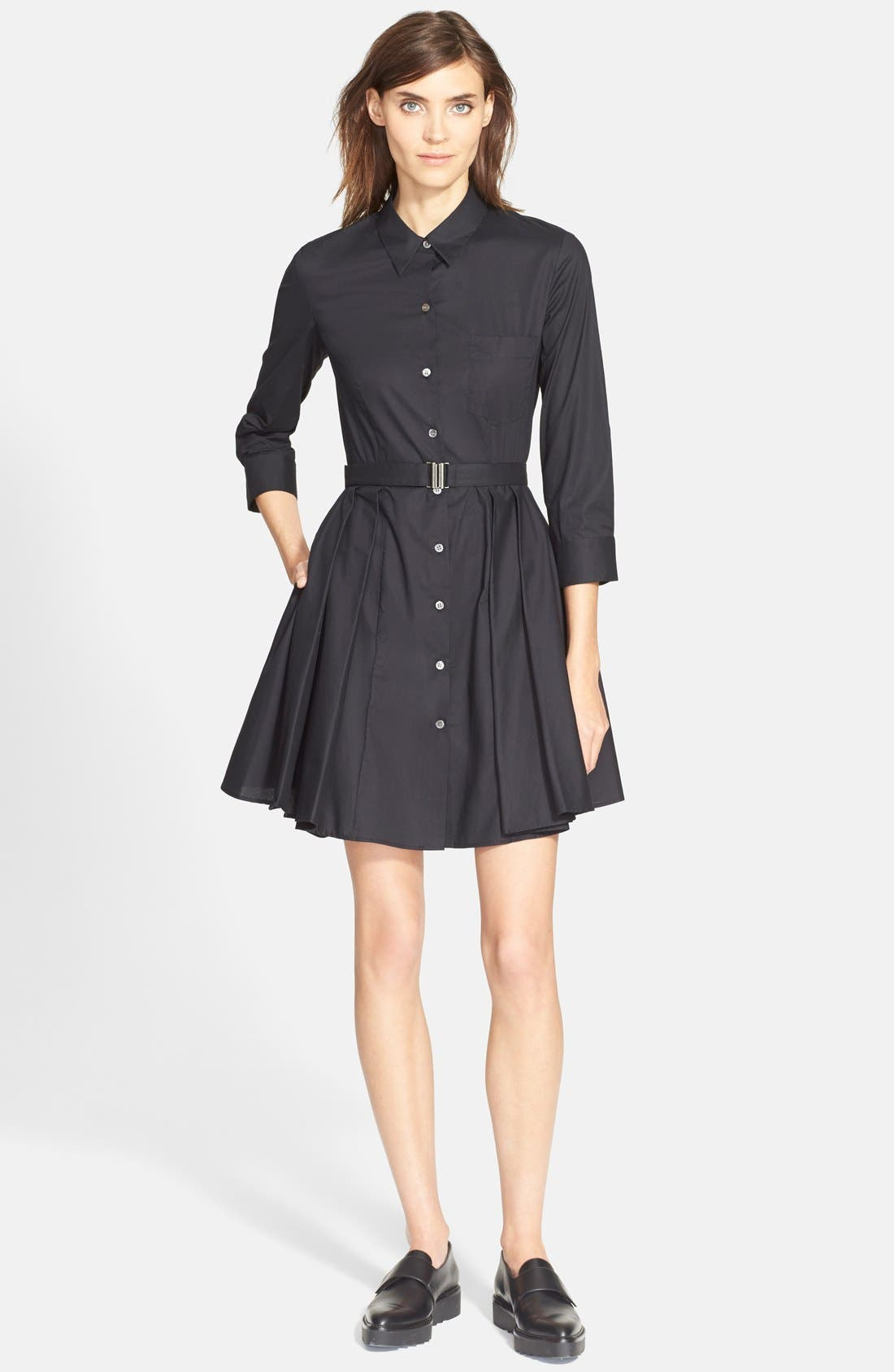 ,                             'Jalyis' Stretch Poplin Shirtdress,                             Main thumbnail 1, color,                             001