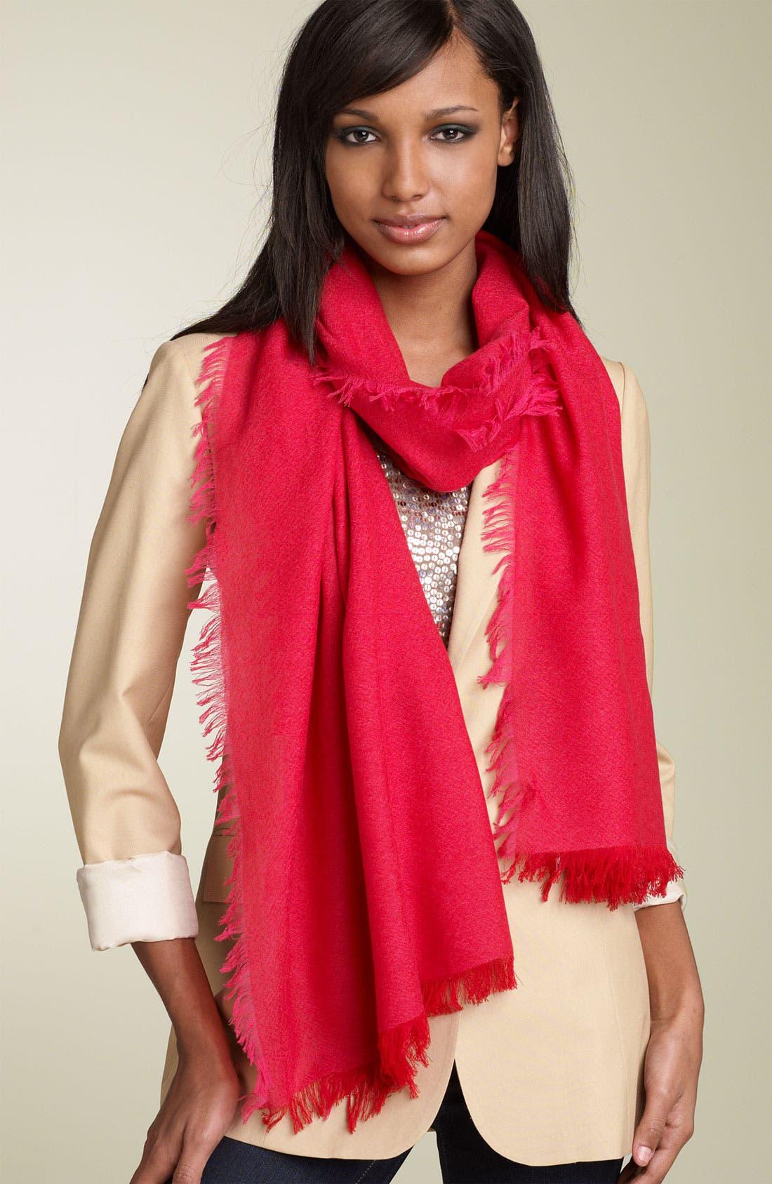 ,                             'Eyelash' Colorblock Cashmere Wrap,                             Main thumbnail 76, color,                             600