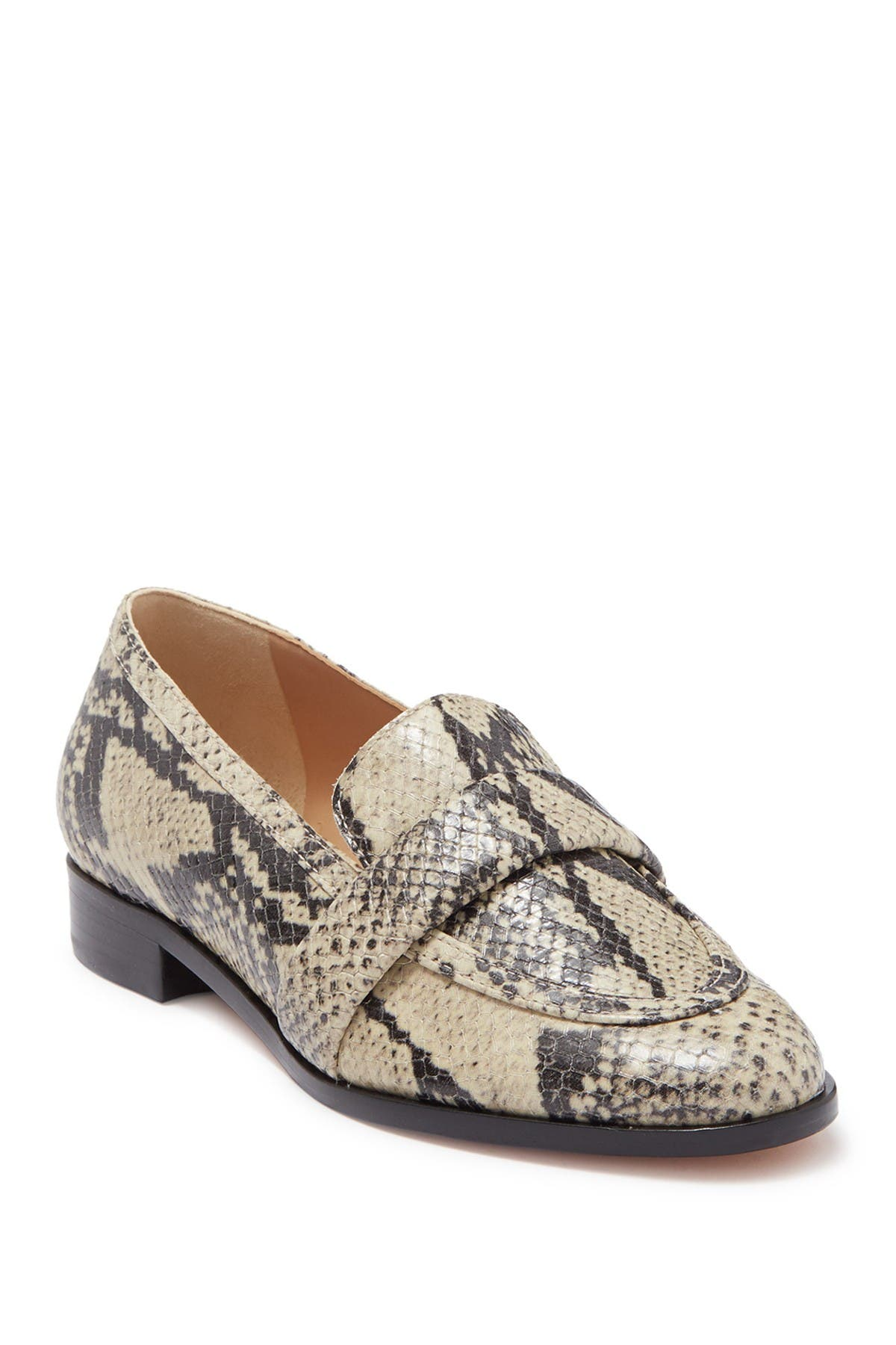Image of Schutz Romina Snakeskin Embossed Loafer