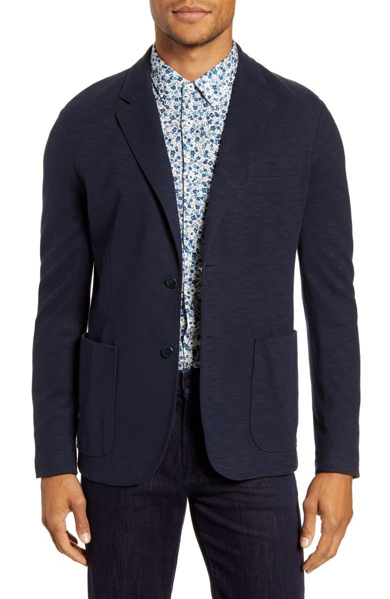 GOOD MAN BRAND Slub Knit Blazer, Main, color, SKY CAPTAIN