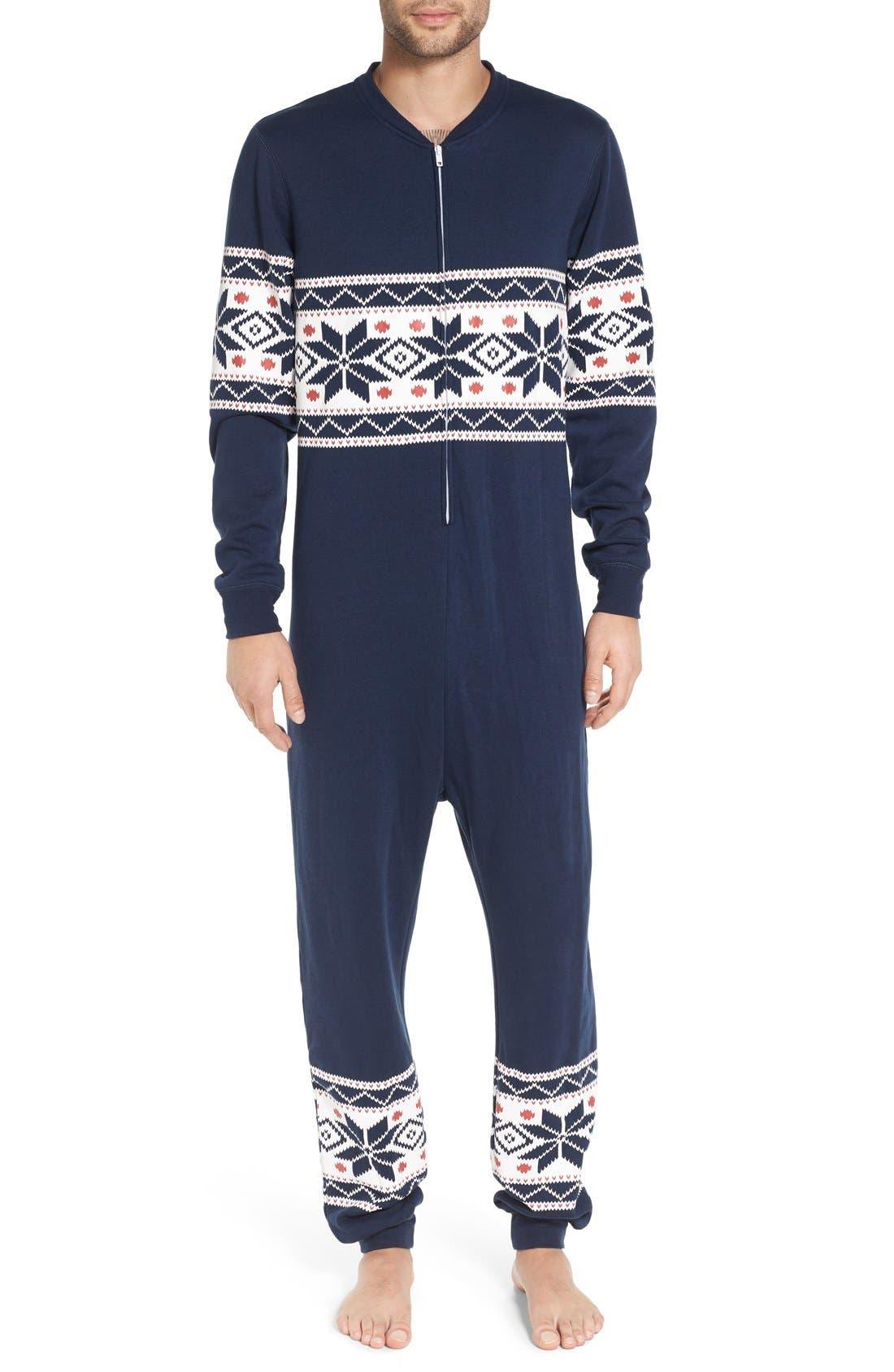 ,                             Fleece One-Piece Pajamas,                             Main thumbnail 28, color,                             420