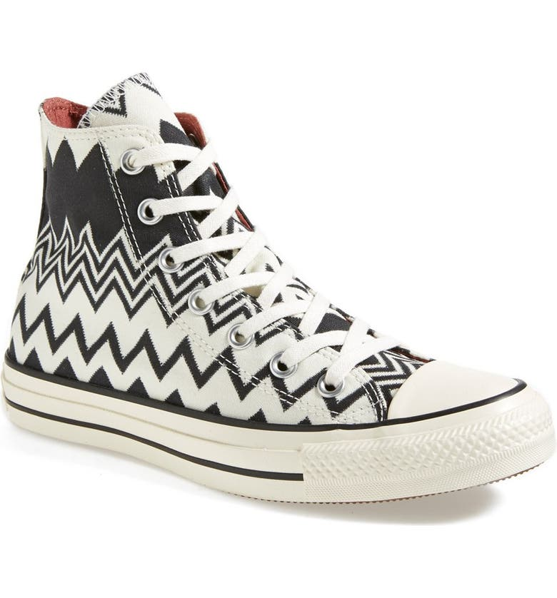 CONVERSE x Missoni Chuck Taylor<sup>®</sup> All Star<sup>®</sup> High Top Sneaker, Main, color, 001