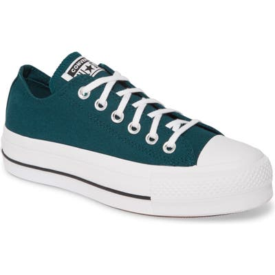 Converse Chuck Taylor All Star Lift Low Top Platform Sneaker- Blue/green