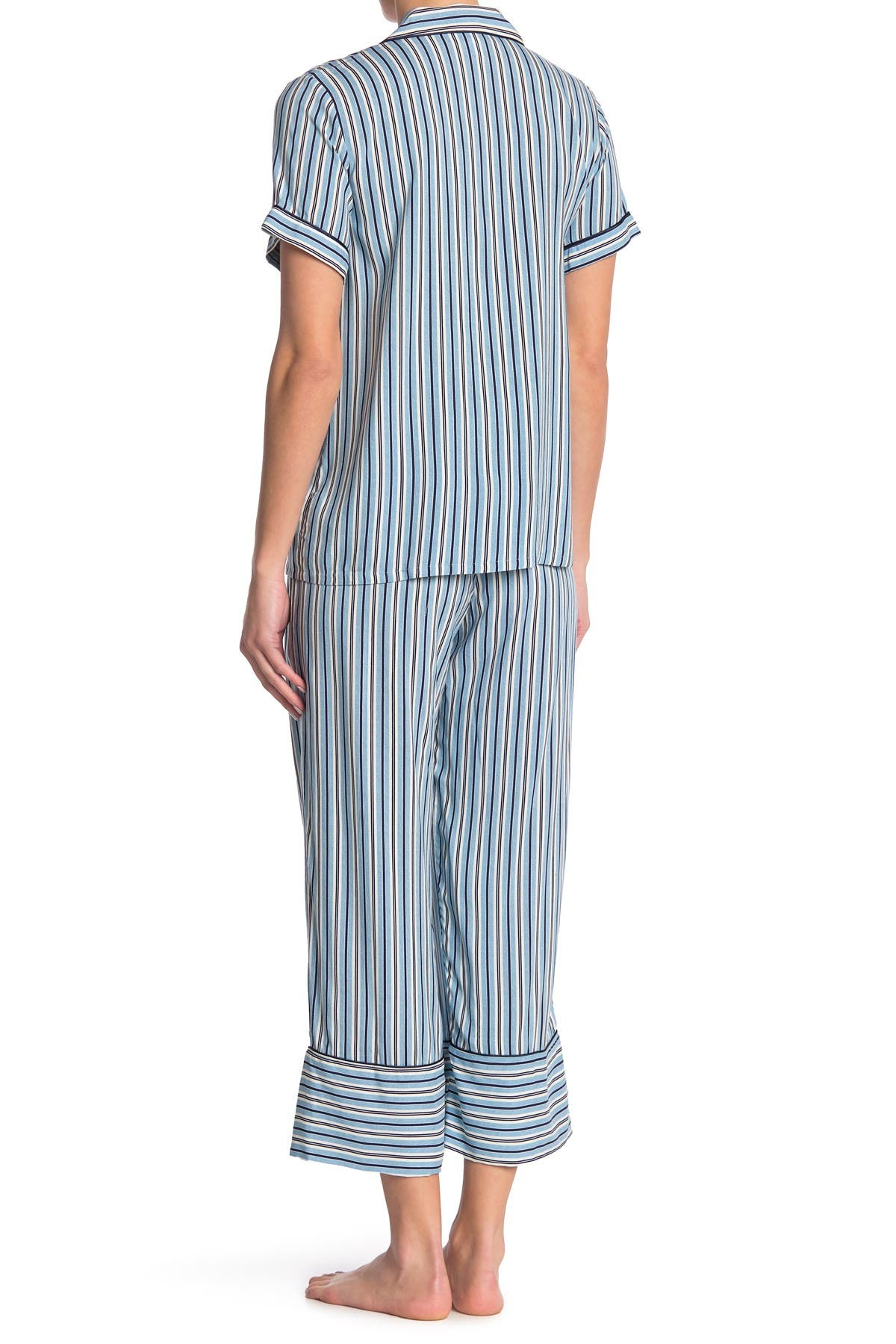 Image of In Bloom by Jonquil Beautiful Dreamer Striped Short Sleeve Top & Pants 2-Piece Pajama Set
