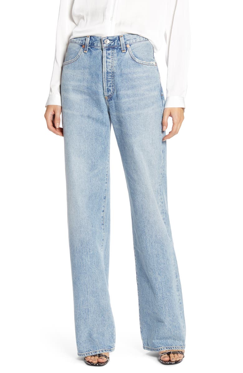 CITIZENS OF HUMANITY Annina High Waist Trouser Jeans, Main, color, BLUE MIRAGE