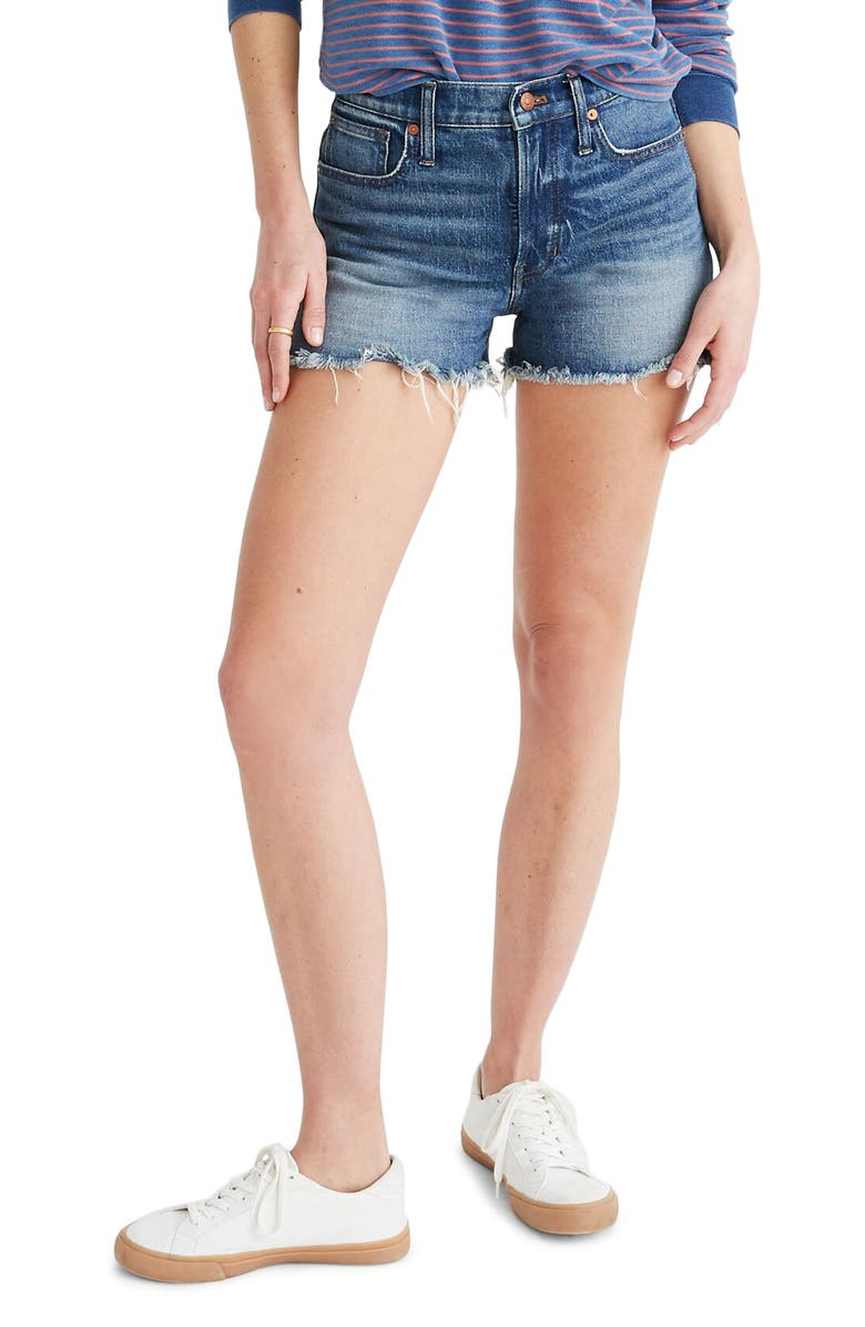 MADEWELL The Perfect Jean Shorts, Main, color, RAYBURN WASH