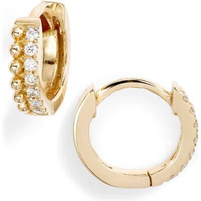 Bony Levy Diamond & Gold Bead Huggies (Nordstrom Exclusive)