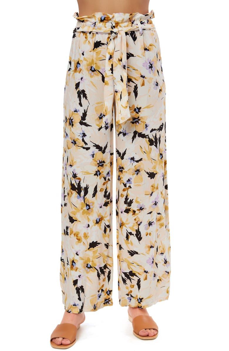 O'NEILL Alli Floral Paperbag Waist Wide Leg Pants, Main, color, 650
