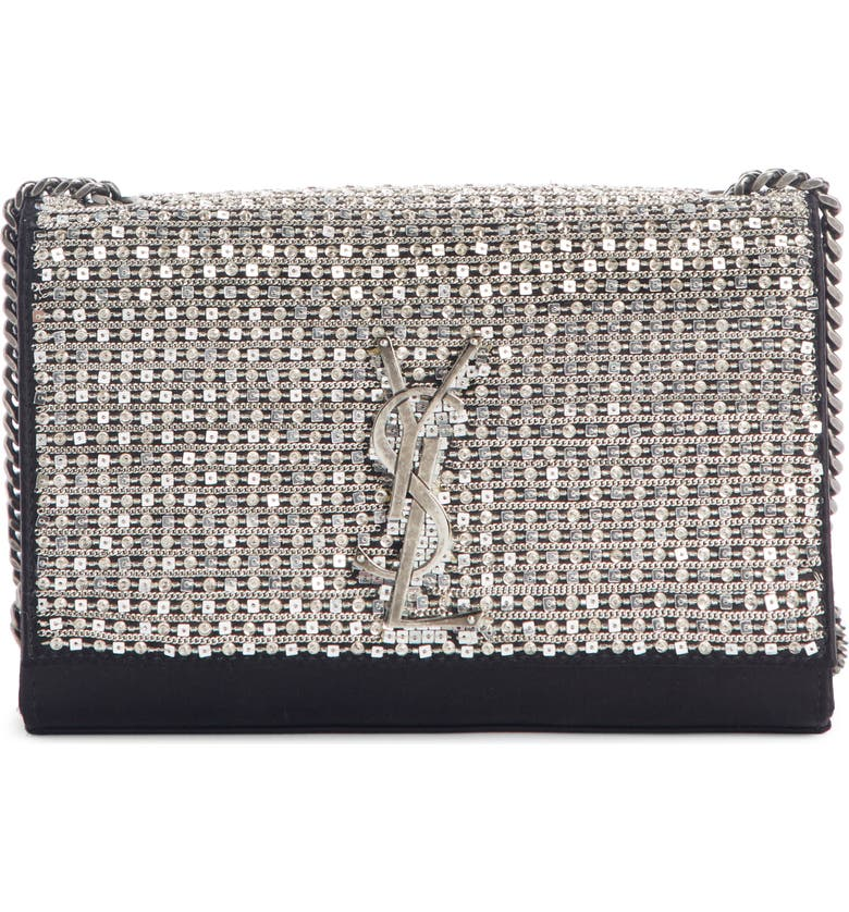 Saint Laurent Small Kate Paillettes Satin Crossbody Bag