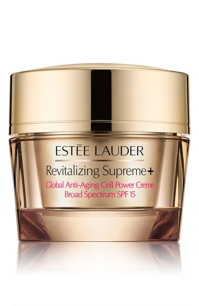 ESTÉE LAUDER Revitalizing Supreme+ Global Anti-Aging Cell Power Crème SPF 15, Main, color, NO COLOR