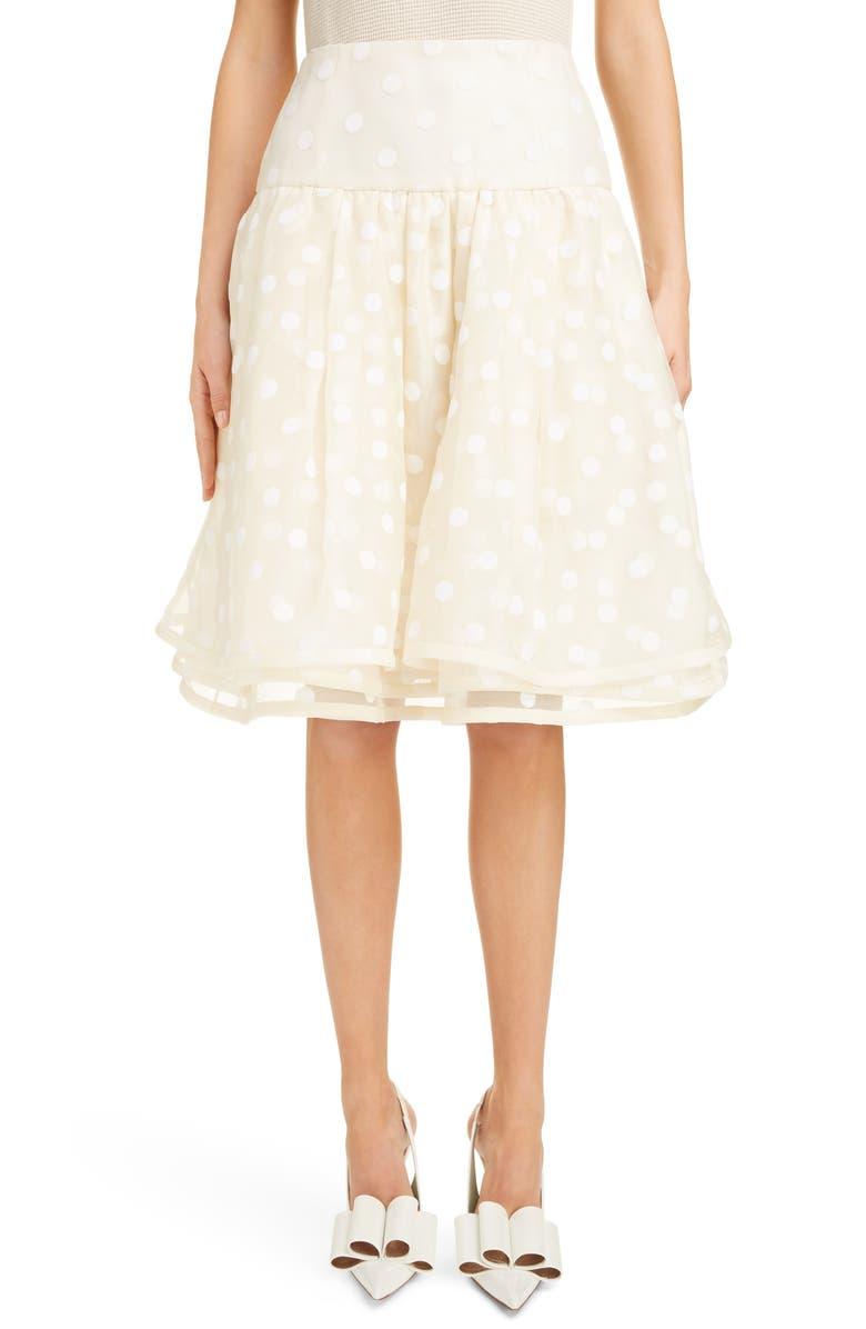 MARC JACOBS Polka Dot A-Line Skirt, Main, color, 900